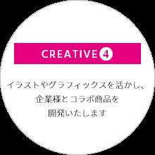 女性ファッション誌・ブランドブック制作ステップ CREATIVE4.イラストやグラフィックスを活かし、企業様とコラボ商品を開発いたします。